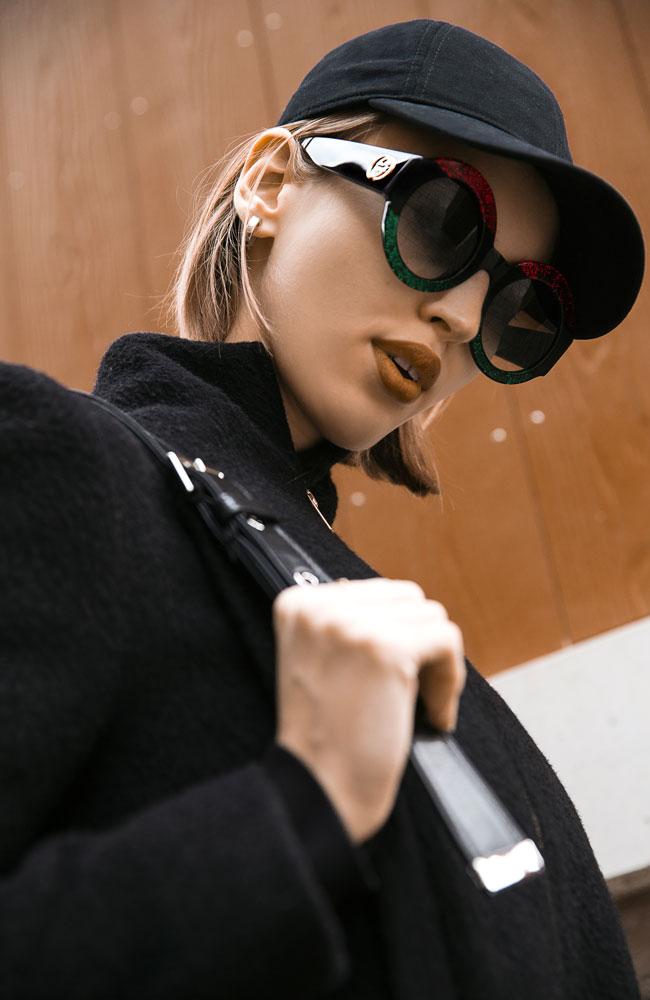 fd8d531b027b ... Gucci Solbriller i Rød   Sort Farver med Grå Gradientlinser til Kvinder