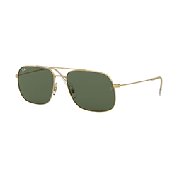 Find yourself on eyerim with Ray-Ban RB3595 901380 sunglasses in Gold and Green Colour