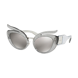 Find yourself on eyerim with Miu Miu MU04TS 54Z139 Sunglasses in Transparent and Grey Colour