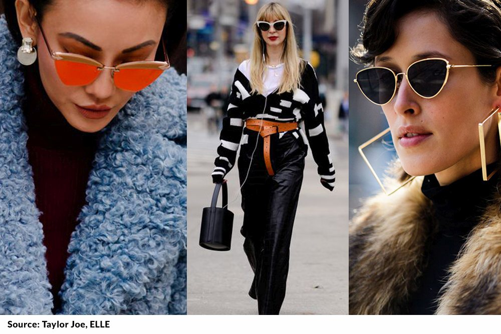 back to the future, cat eye sunglasses