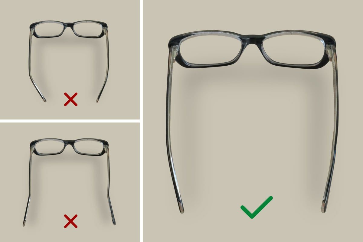 Optometrista ukazuje ako správne ohnúť nosníky