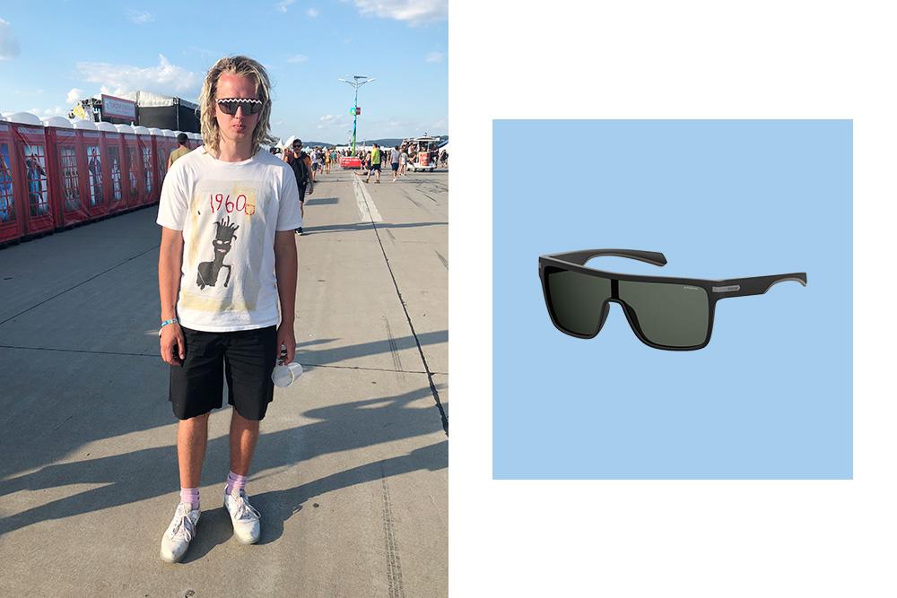 Jednoliate čierne Polaroid slnečné okuliare pre mužov.