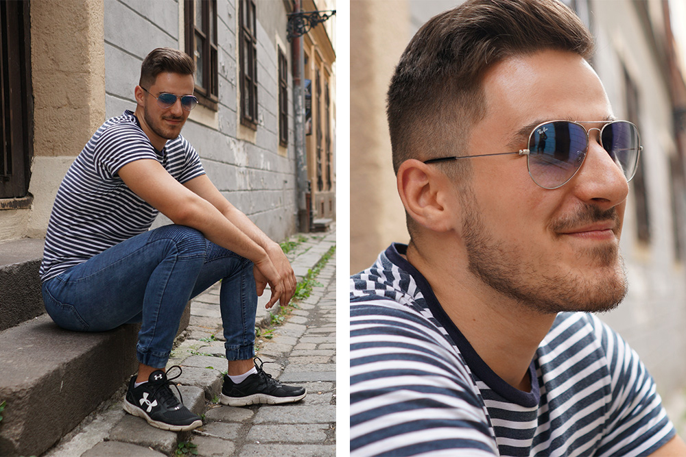 Unisex Ray-Ban Sunglasses in Blue.